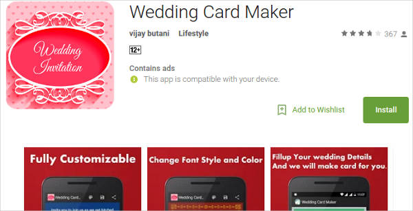 wedding card maker for android