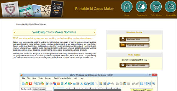 wedding cards maker software