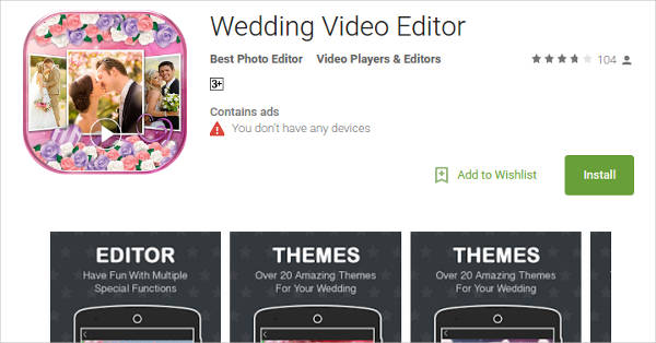 wedding video editor for android