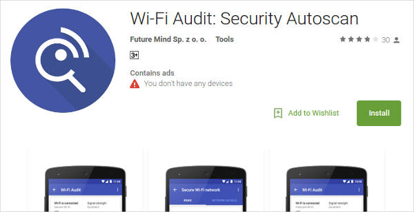 wi fi audit for android