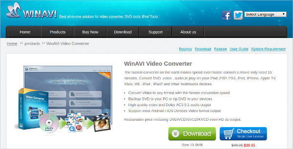 winavi video converter for windows