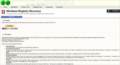windows registry recovery