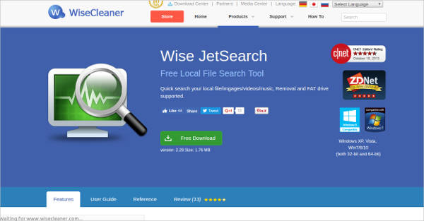 wise jetsearch most popular software