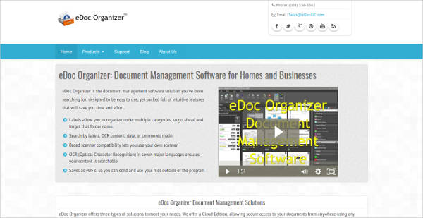edoc organizer most popular software