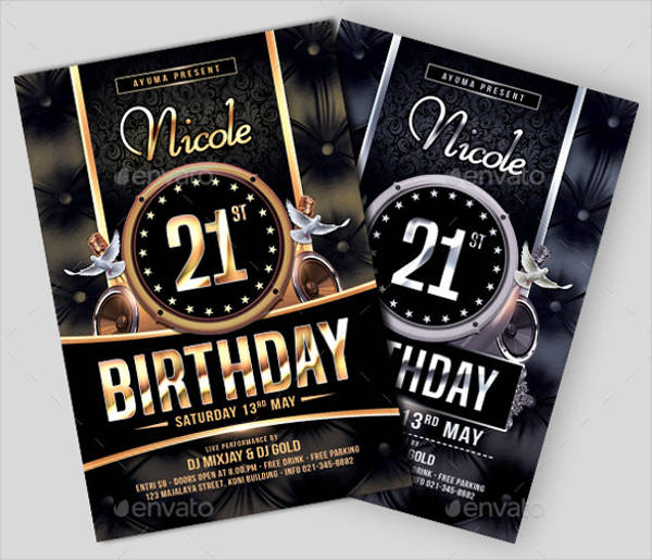 31 PSD Party Flyers
