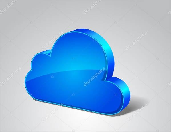 3d cloud icon vector