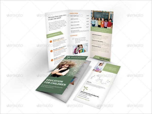 a4 education tri fold brochure
