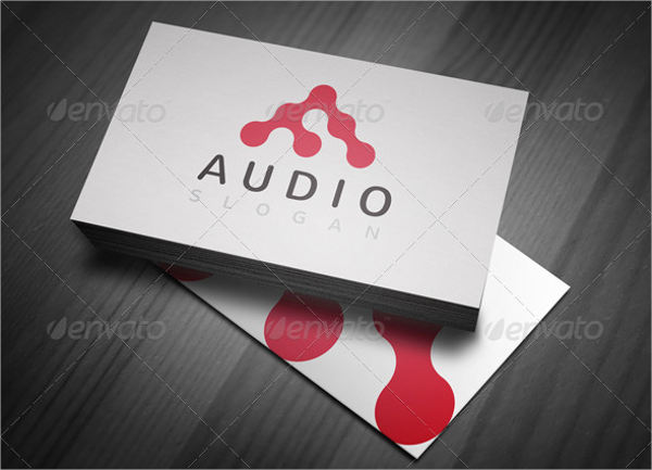 abstract company audio logo