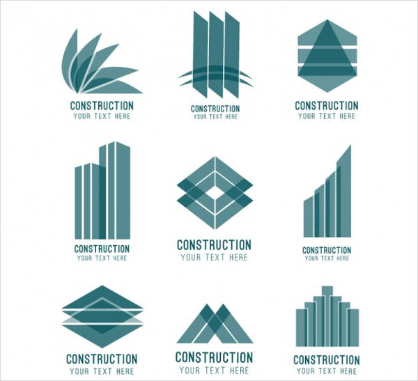 abstract construction logos free vector