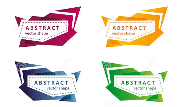 abstract shaped banner vector