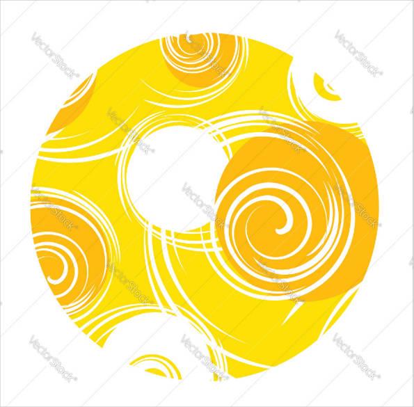 abstract sun vector
