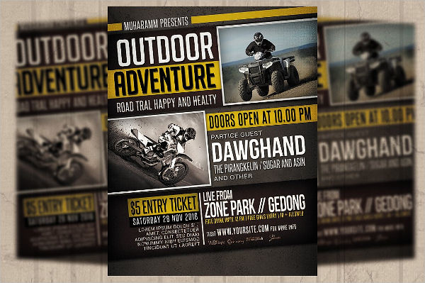 adventure sports event flyer