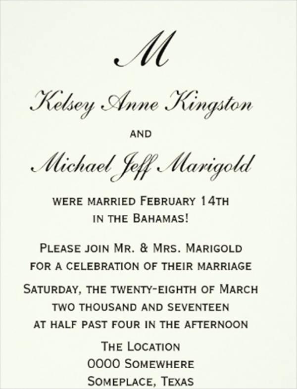 affordable wedding reception invitations1