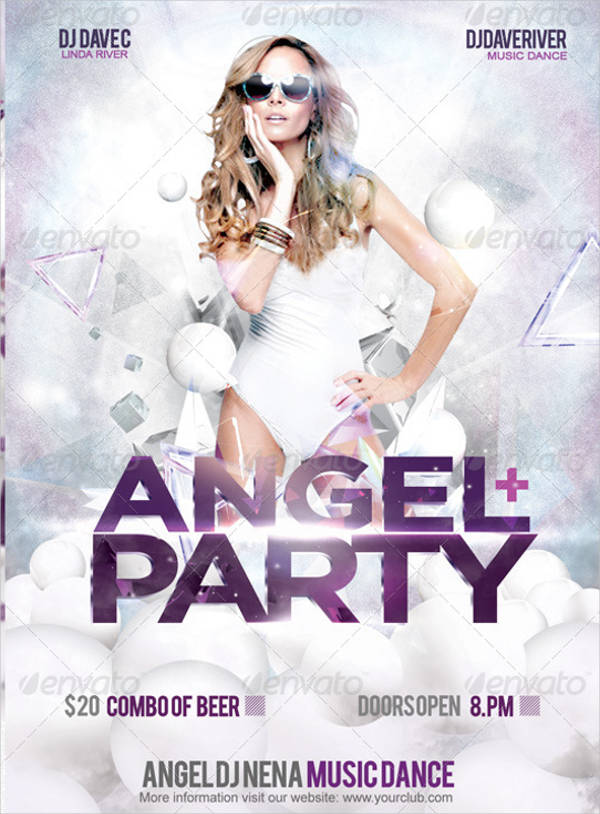 angel dance party flyer
