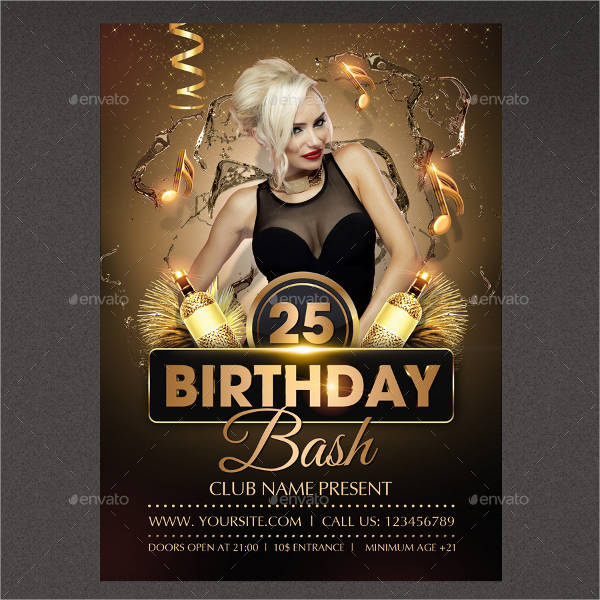 any age birthday party flyer