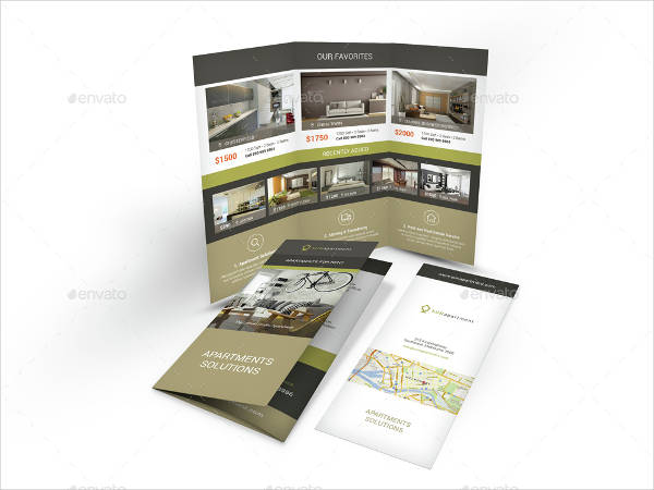 apartment for rent trifold brochure