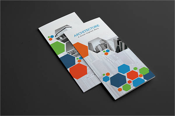 architect trifold brochure psd format