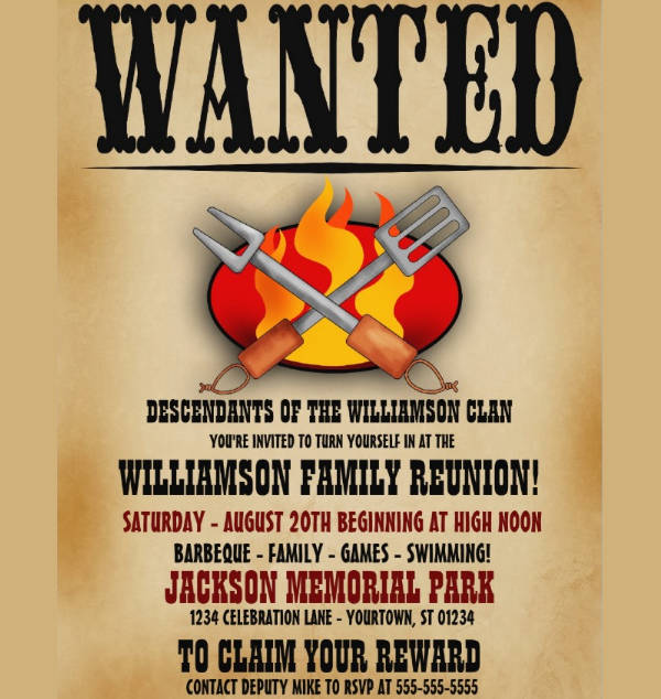 bbq invitation wanted poster2