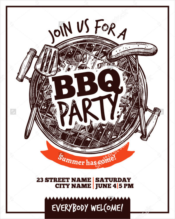 bbq weekend party poster1