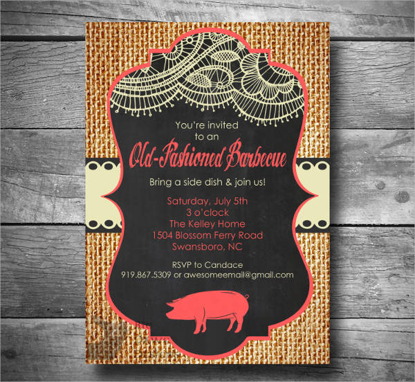 bbq invitation email sample