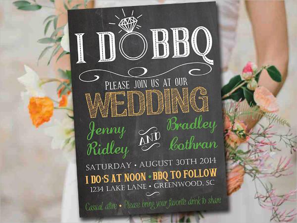 bbq wedding invitation wording