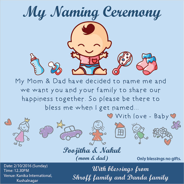 Naming Ceremony Invitation Sms - Free Custom Invitation Template Design | Verrado Drift