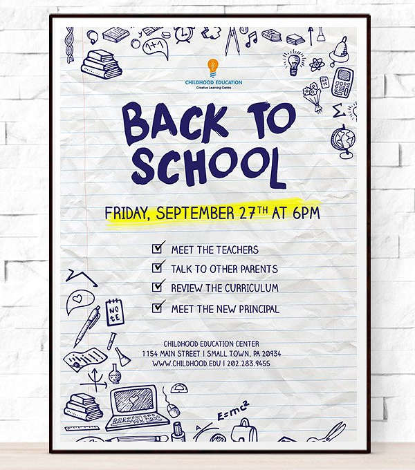 back to school event flyer1