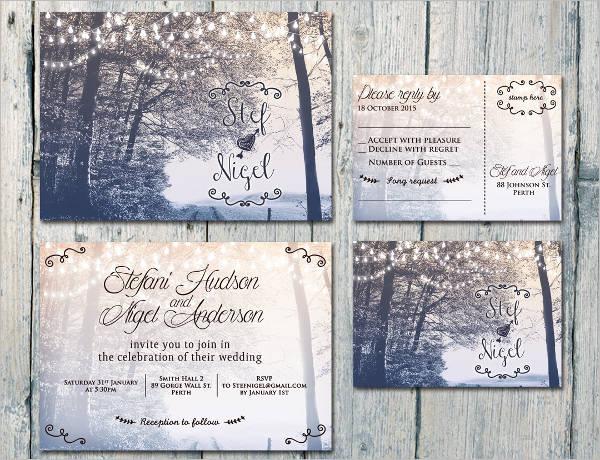 backyard wedding reception invitations1