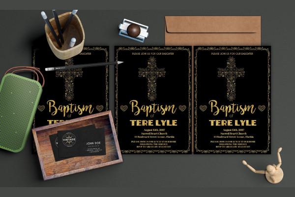 baptism invitation design template