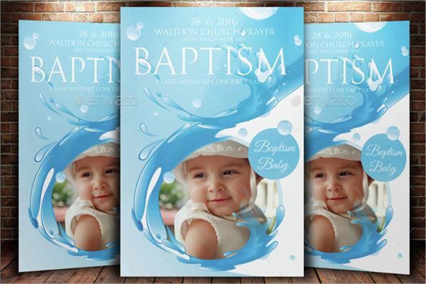 baptism invitation psd template