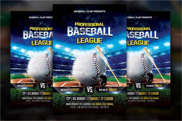 baseball sports flyer template1