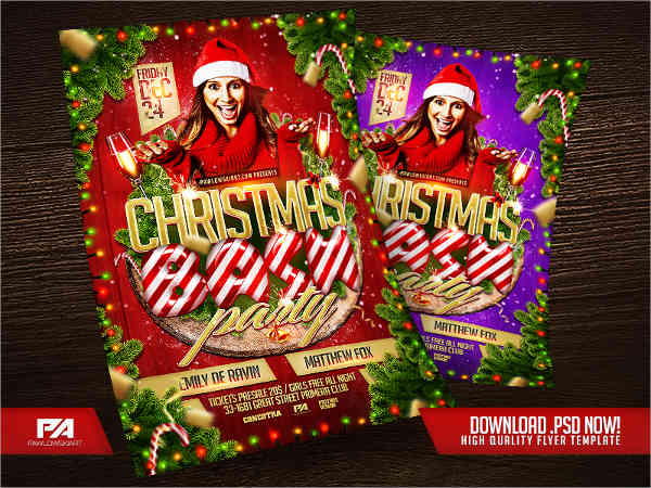 bash christmas party flyer