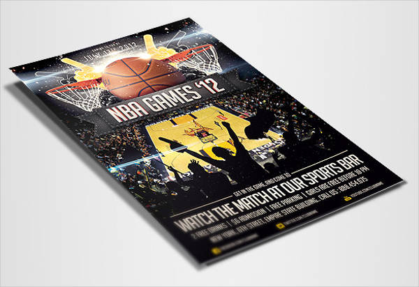 basketball sport flyer