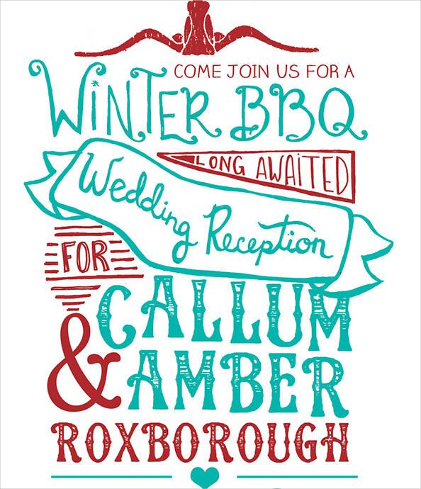 bbq wedding reception invitations1