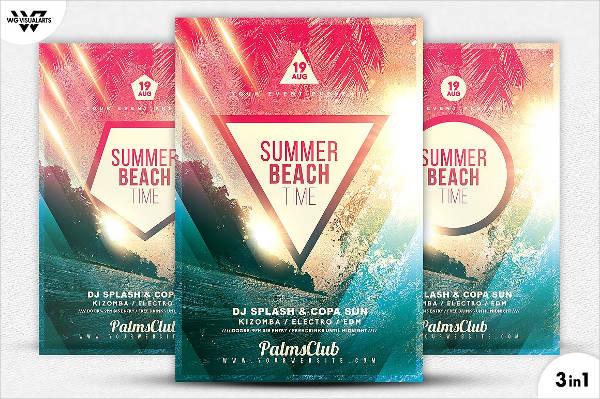 beach party flyers psd