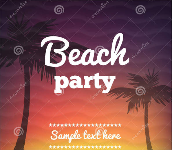 beautiful beach party flyer template