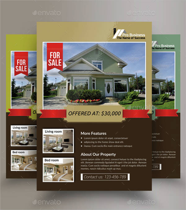 beautiful real estate flyer template