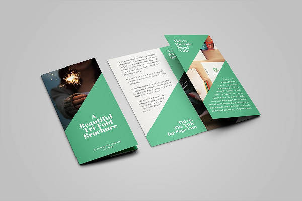 beautiful tri fold brochure
