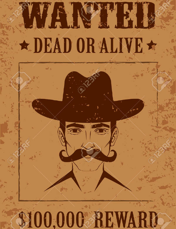 beautiful western cowboy wanted poster1