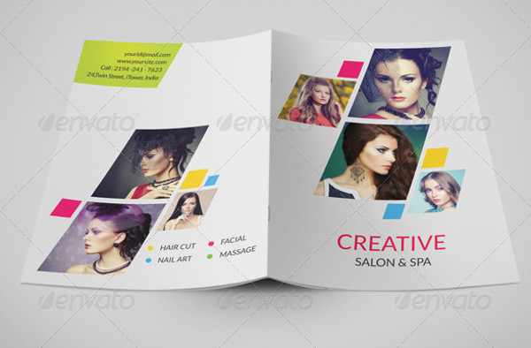 beauty care salon brochure