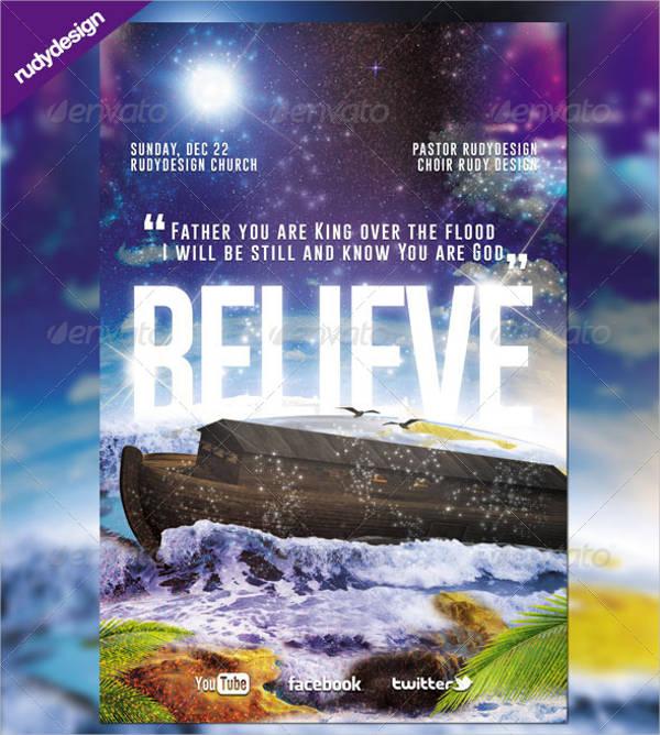 believe church flyer design