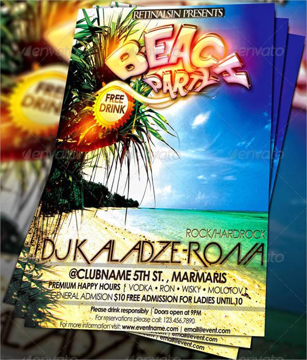 best beach party flyer template