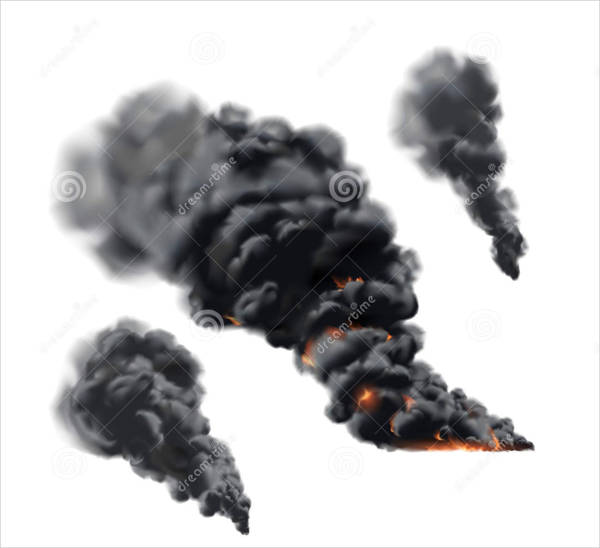 big fire vector smoke