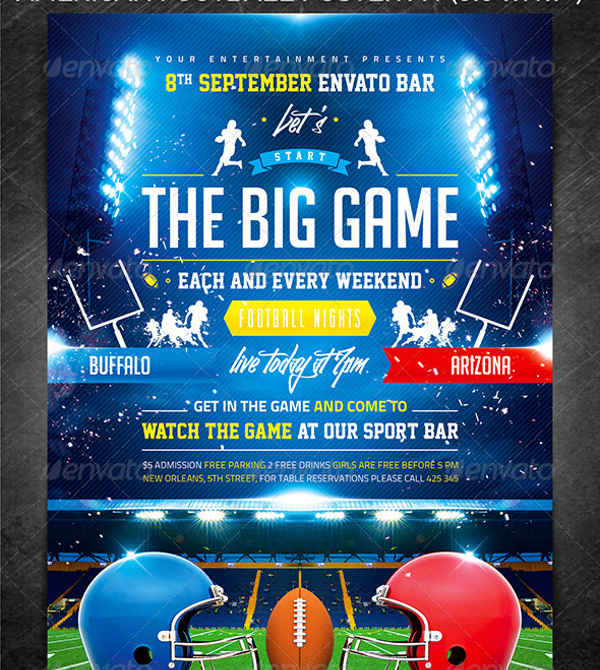 big game flyer template