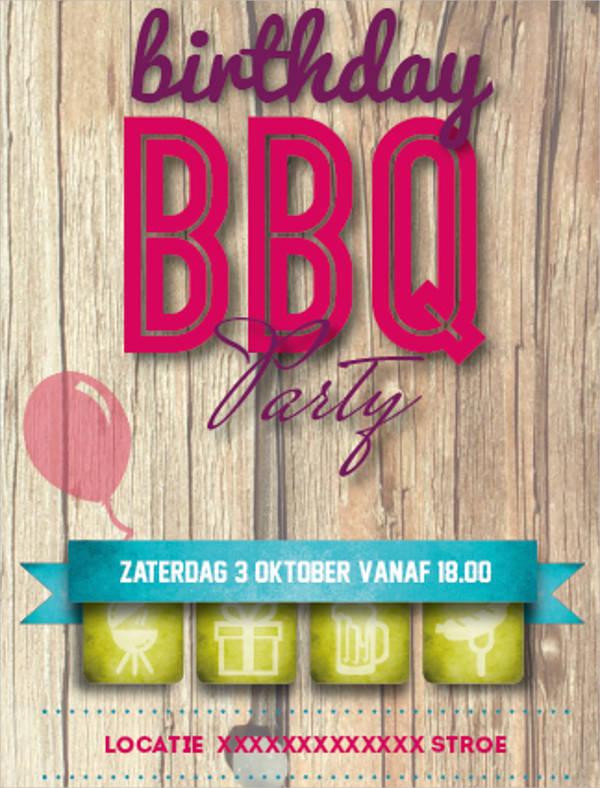 birthday bbq invitation