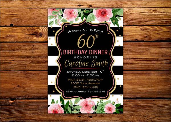 birthday dinner invitation template3