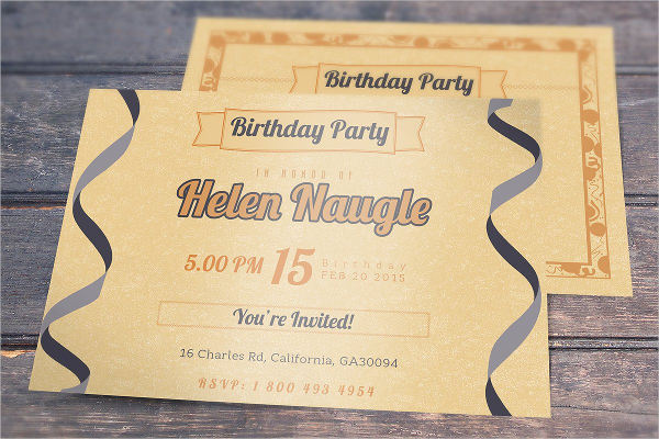 birthday party invitation cards1