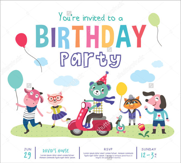 birthday party invitation cards2