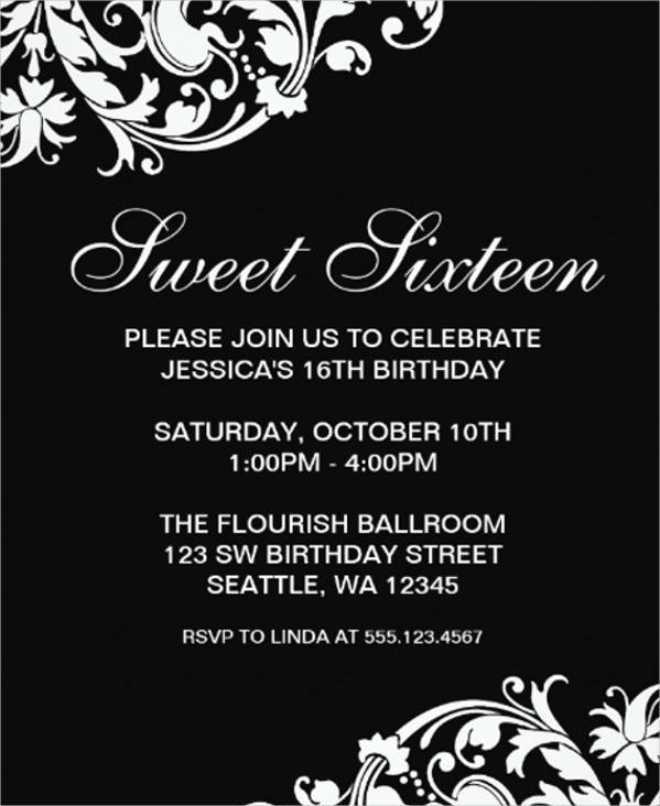 27 formal invitation templates black and white formal birthday invitation stopboris Image collections