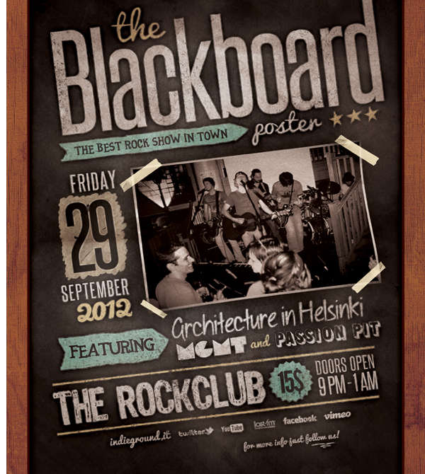 blackboard advertising poster